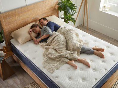 Couple on mattress
